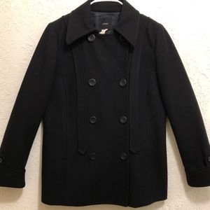 J. Crew women's black peacoat
